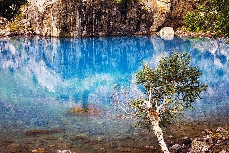 File:Blue Lake of Naltar.jpg