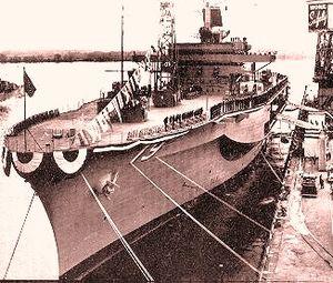USS Blue Ridge (LCC-19) - Commissioning on 14 Nov 1970