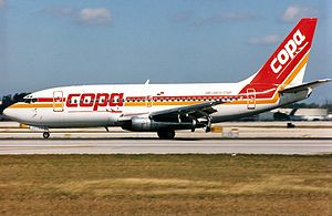 Copa Airlines Flight 201 - A Copa Airlines Boeing 737-204 identical to the one involved in the crash