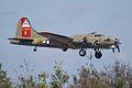Boeing B-17G-85-DL Flying Fortress Nine-O-Nine Landing Approach 10 CFatKAM 09Feb2011 (14983925785).jpg