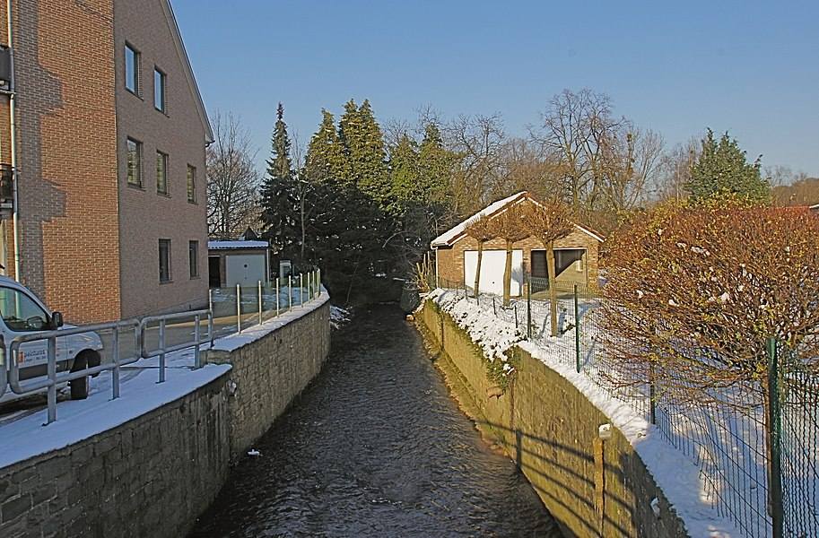 Dalhem, Germany: The Bolland close to its confluence with the Berwinne river