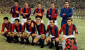 Bologna F.C. 1909 - The last Bologna side to win the scudetto, in 1963–64 season.