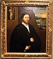 Bonifacio veronese, ritratto di gentiluomo in nero con guanto, statua e paesaggio, 1525-30 ca. 01.jpg