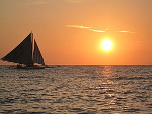 Paraw Regatta Festival - A Paraw off of Boracay, like the ones that compete in the Paraw Regatta.