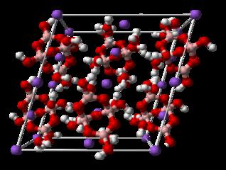schéma molekuly boraxu