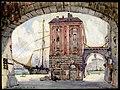 Bordeaux, la Capitaneria del porto, bozzetto di G. Lentini per Laurette (1925) - Archivio Storico Ricordi ICON009598.jpg