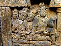 Borobudur - Divyavadana - 010 E, The Chaplain advises the King to sacrifice Manohara (detail 1) (11703351615).jpg