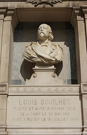 Louis Bouilhet - Memorial of Louis Bouilhet at the Musée des Beaux-Arts in Rouen