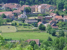 A general view of Sainte-Colombe-en-Auxois