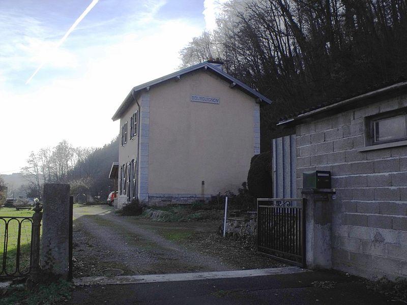 Ancienne gare de Bourguignon, Doubs, France