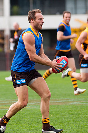 Brad Sewell - Sewell training with Hawthorn in 2011
