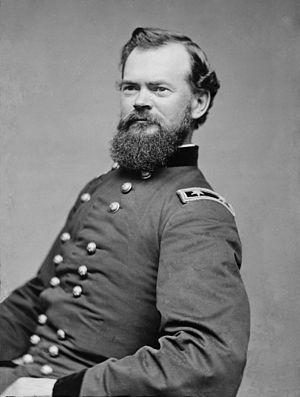 James B. McPherson - General James B. McPherson, photographed by Mathew Brady