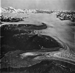 Brady Glacier, icefield in the background and Deception Lobe in the foreground, valley glacier, September 12, 1973 (GLACIERS 5821).jpg