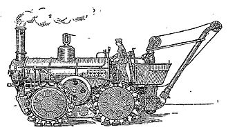 Bramah Joseph Diplock - A locomotive fitted with Diplock's pedrail wheels, February 7, 1904 The New York Times.
