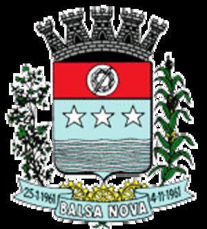 Balsa Nova - Image: Brasao Balsa Nova PR