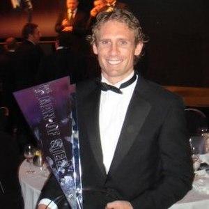 Brett Hodgson - Hodgson in 2009 after receiving the Man of Steel Award.