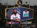 Brian Wilson, St. Louis Cardinals 0, Los Angeles Dodgers 0, Dodger Stadium, Los Angeles, California (14517933435).jpg