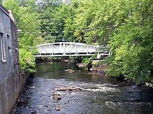Assabet River - Bridge completed in 2017 for the Assabet River Rail Trail in downtown Maynard