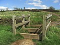 Bridleway stile on Crompton Moor - geograph.org.uk - 1292385.jpg