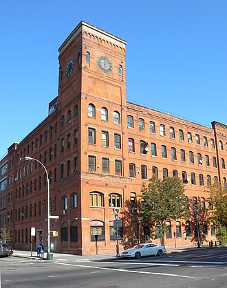 Port Morris, Bronx - The Clock Tower, former factory now serving residential and commercial tenants