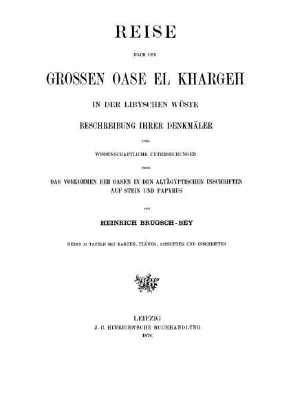 File:Brugsch Reise nach der großen Oase El Khargeh.djvu
