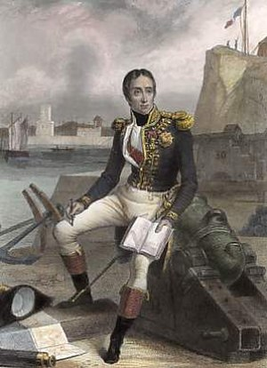 Étienne Eustache Bruix - Étienne Eustache Bruix, by E. Charpentier,  engraved by Ch. Geoffroy. 1840