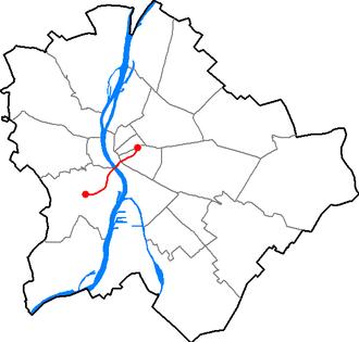 Line 4 (Budapest Metro) - Image: Budapest M4 Metro map
