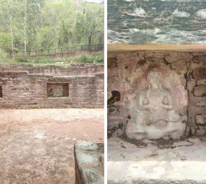Adi Badri, Haryana - Statues of the Buddha at Adi Badri
