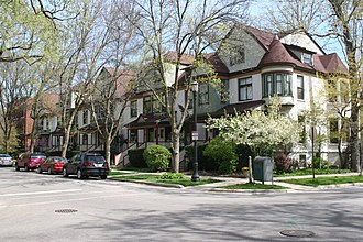 National Register of Historic Places listings in Evanston, Illinois - Image: Building at 1101 1103 Maple 2