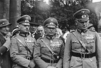 Bundesarchiv Bild 102-01817A, v. Rundstedt, v. Fritsch, v. Blomberg
