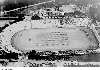 Balboa Stadium - Aerial view from west in 1932