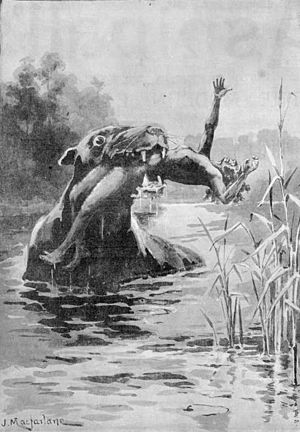 ABORIGINAL MYTHS. - THE BUNYIP (caption) - pho...