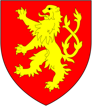 Bartholomew de Burghersh, 1st Baron Burghersh - Arms of Burghersh: Gules, a lion rampant double queued or