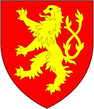Baron Burghersh - Arms of Burghersh, Baron Burghersh: Gules, a lion rampant double queued or