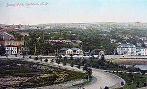 Burnet Park - Burnet Park looking east toward downtown c.1910