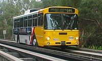 Mercedes-Benz O305 bus on the O-Bahn