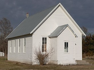 National Register of Historic Places listings in Butler County, Nebraska - Image: Butler County District 10 school from SW