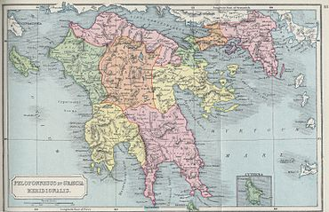 Peloponnes Karte Regionen.Peloponnes Wikipedia