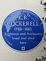 C.R.COCKERELL 1788-1863 Architect and Antiquary lived and died here(2).jpg