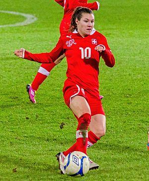 Ramona Bachmann - Ramona Bachmann playing for Switzerland, October 2012