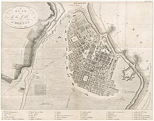 Kartamyshevska Street - Plan of Odessa city and village Moldavanka (Moldave) dated 1814.