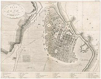 Odessa - Plan of Odessa in 1814
