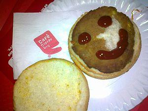 Café Coffee Day - A veg burger at CCD