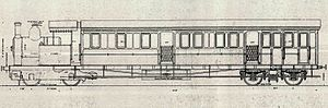 0-4-0+4 - Cape Government Railways Railmotor drawing, 1906
