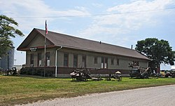Mound City Museum, housed in a former C.B.& Q. Railroad depot