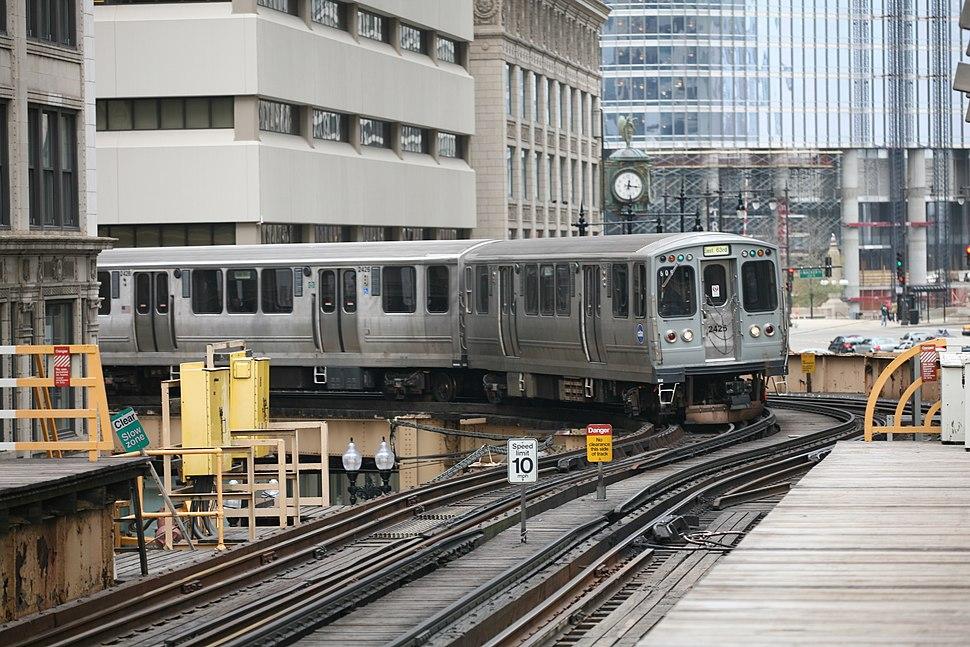 CTA train NE corner