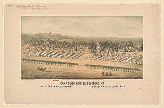 Bladensburg, Maryland - Camp Casey near Bladensburg, 1861