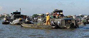 Can Tho City - Schwimmender Markt auf dem Mekong 02.jpg