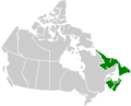 Canada Atlantic provinces map.png
