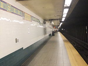 Canal Street (New York City Subway) - Bridge Line platform